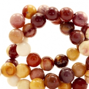 Half edelsteen kralen rond 4mm calcite orange Mixed colours brown