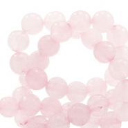 Half edelsteen kralen rond 6mm rose quartz Light princess pink opal