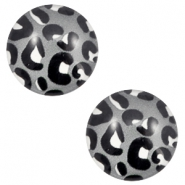 Cabochon basic 12mm Leopard-grey