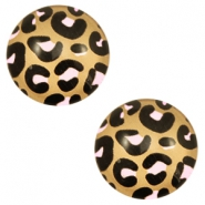 Cabochon basic 12mm Leopard-brown rose