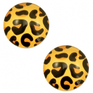 Cabochon basic 12mm Leopard-gold orange