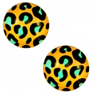 Cabochon basic 12mm Leopard-gold turquoise
