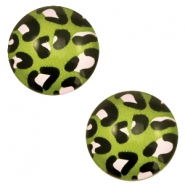 Cabochon basic 20mm Leopard-green