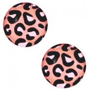 Cabochon basic 20mm Leopard-salmon rose