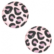 Cabochon basic 20mm Leopard-light pink
