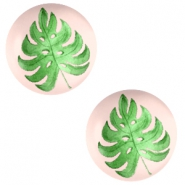 Cabochon basic 20mm Tropical leaf-creamy peach