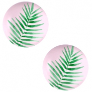 Cabochon basic 20mm Fern leaf-palace rose
