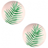 Cabochon basic 12mm Fern leaf-creamy peach