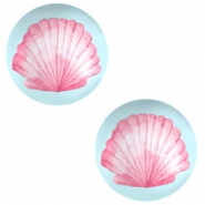 Cabochon basic 12mm Shell-airy blue