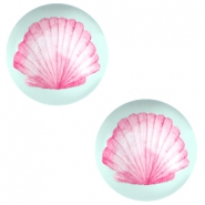 Cabochon basic 20mm Shell-light lagoon green