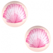 Cabochon basic 12mm Shell-coral peach