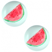 Cabochon basic 12mm Watermelon-light turquoise blue