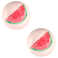 Cabochon basic 12mm Watermelon-light coral peach