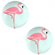 Cabochon basic 20mm Flamingo-light turquoise blue