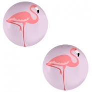 Cabochon basic 20mm Flamingo-lilac purple