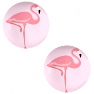 Cabochon basic 20mm Flamingo-pink