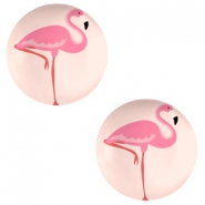 Cabochon basic 20mm Flamingo-coral peach