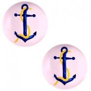 Cabochon basic 12mm Anchor-pink