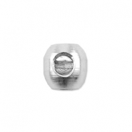 Beadalon scrimps ovaal 3.5mm Zilver