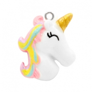 Bedel 1 oog unicorn White-rainbow pink