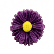 Daisy bloem kralen 13mm Dark purple