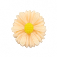 Daisy bloem kralen 13mm Light peach
