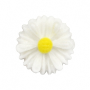 Daisy bloem kralen 13mm White