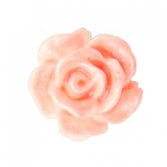 Roosjes kralen 10mm Wit-coral peach
