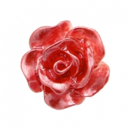 Roosjes kralen 10mm Wit-precious rose pearl shine