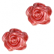 Roosjes kralen 6mm Wit-precious rose pearl shine