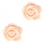 Roosjes kralen 6mm Wit-fresh peach