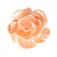 Roosjes kralen 10mm Wit-fresh peach pearl shine