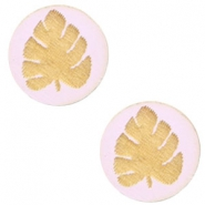 Houten cabochon blad 12mm Light lavender purple