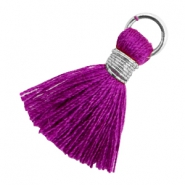 Kwastjes 1.8cm Zilver-Electric purple violet