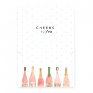 "Sieraden kaartjes ""cheers to you"" White-multicolour"
