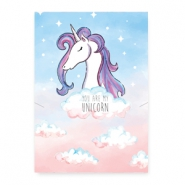 "Sieraden kaartjes ""you are my unicorn"" Multicolour pink-blue"