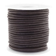 Voordeelrol DQ Leer rond 3 mm Dark chocolate brown