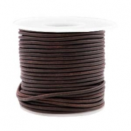 Voordeelrol DQ Leer rond 2 mm Vintage chocolate brown