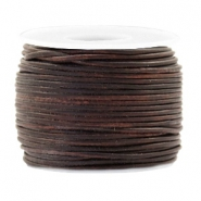 Voordeelrol DQ Leer rond 1 mm Vintage chocolate brown