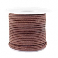 Voordeelrol DQ Leer rond 2 mm Red brown-vintage finish