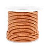 Voordeelrol DQ Leer rond 2 mm Copper gold metallic