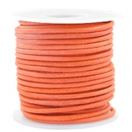 Voordeelrol DQ Leer rond 3 mm Antique orange