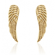 Trendy oorbellen studs angel wing Gold
