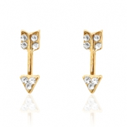 Trendy oorbellen studs arrow Gold