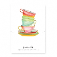 "Sieraden kaartjes ""cup of tea"" White-multicolour"