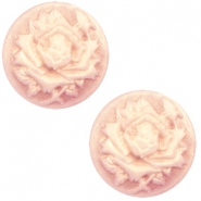 Cabochon basic camee 20mm roos Vintage rose-antique gold