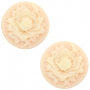 Cabochon basic camee 12mm roos Light peach-beige