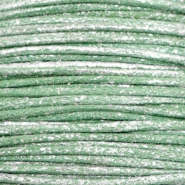 Waxkoord metallic 1.0mm Leaf green