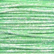Waxkoord metallic 0.5mm Parrot green