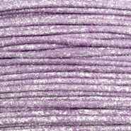 Waxkoord metallic 0.5mm Lavender purple